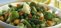 Menestra de verduras al vapor